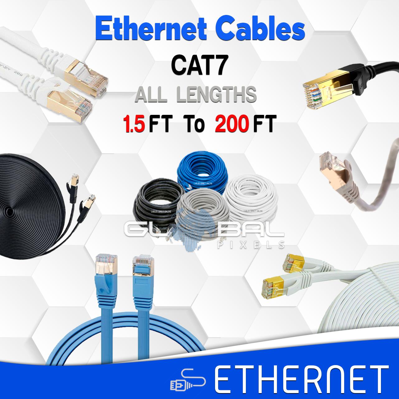 Ethernet Cable CAT7 CAT 7 RJ45 Cables 6 10 20 50 75 100 200