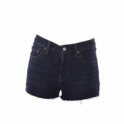 Levis 501 Button Fly Jean Booty Shorts Factory Blue Denim  Womens