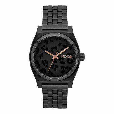 Nixon A045-2125 Time Teller 37MM Women's Black Stainless Steel Watch