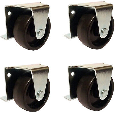 2 Inch Low Profile Trundle Casters / Wheels Cabinet Roll-Out Bed - Set Of - Cabinet 4 Casters