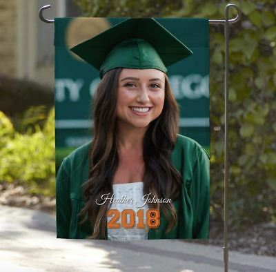 Personalized Graduation Garden Flag | Upload a Photo - Personalized Garden Flags