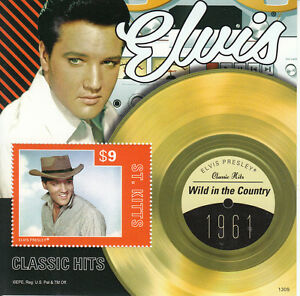 St-Kitts-2013-MNH-Elvis-Presley-Classic-Hits-V-1v-S-S-1961-Wild-In-The-Country
