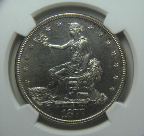 1877-S U.S. Trade Silver Dollar NGC AU58