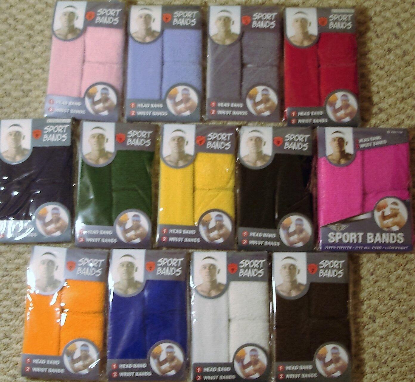 Sweatbands/Wristbands & Headband Set, Terry Cloth Soft Wrist