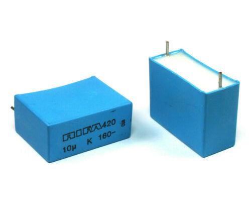 2pcs RIFA 10uF 160v 10% Metallized Polypropylene Box Film Capacitor  MKP
