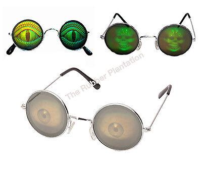 Hologramm Kostüm Zubehör Brille Poker Neuheit Lizard - Hologramm Kostüm