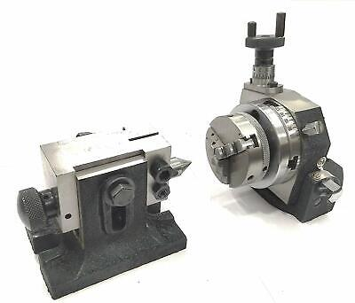 3 Inches80 Mm Tilting Rotary Table With 65 Mm 3 Jaws Self Centering Chuck Sui