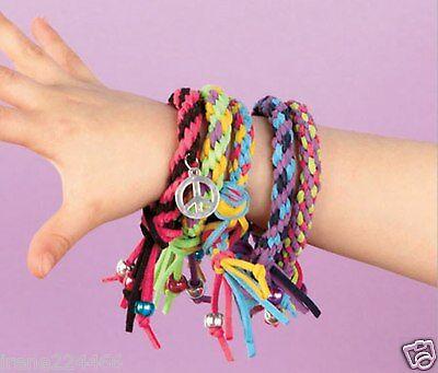 Alex Faux Leather Friendship Wheel Bracelet Craft Kit Do-it-Yourself Wear -
