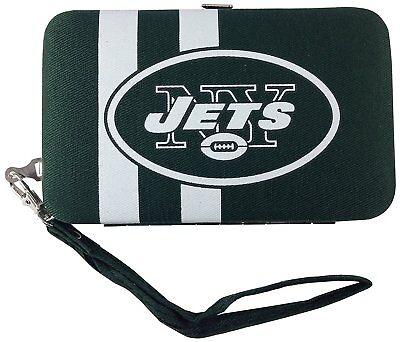 New York Jets Shell Clutch Wallet Wristlet Purse NFL Football New York Jets Clutch