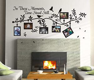 Cornici per foto in rami uccellini arte adesivo da parete - Cornici da parete per foto ...