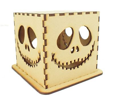 Halloween Decoration Tea Light Box, The Night before Christmas Jack Skeleton  - Night Before Christmas Halloween