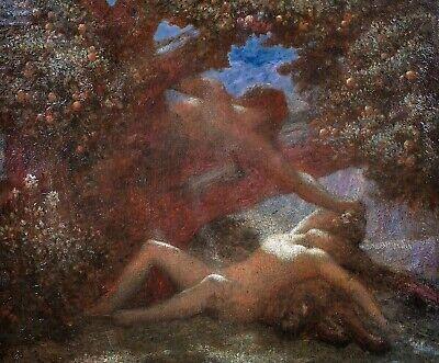 Large 19th Century French Daphne & Apollo by Henri FANTIN-LATOUR (1836-1904)