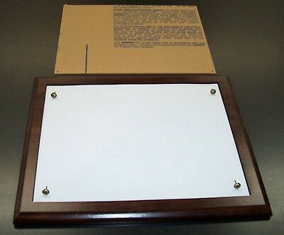 Document Award Certificate Holder Plaque Trophy