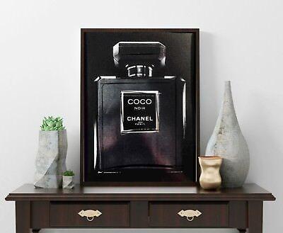 Coco Chanel - Noir - Parfüm - Kunst Dekor - Paris - Modern Art Fashion St. Bam (Paris Fashion Parfüm)