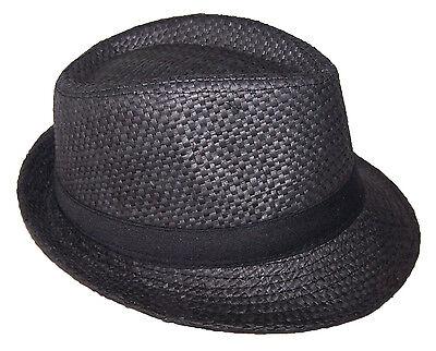 Black Fedora Hat For Kids (Fedora Trilby Hats For Kids Boys Hats  - Black Color   (FedHatK23)
