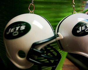 NORA-WINN-UNIQUE-NY-JETS-EARRINGS-NFL-FOOTBALL-HELMETS-WHITE-GREEN
