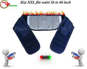 Magnetic waist belt / brace with heat for lower back pain relief