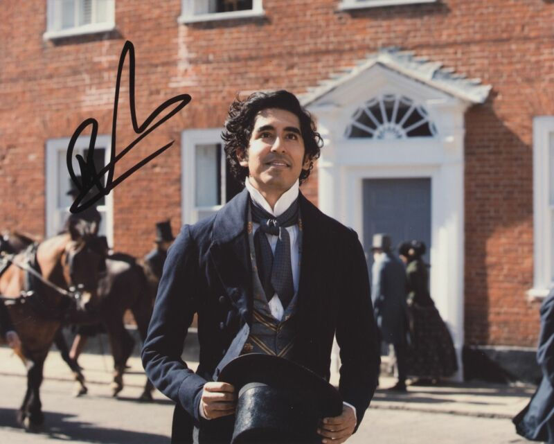 DEV PATEL SIGNED THE PERSONAL HISTORY OF DAVID COPPERFIELD 8X10 PHOTO