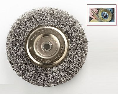 """6"""" STEEL WIRE WHEEL BRUSHES FOR BENCH GRINDER 5/8 1/2 ARBOR"""