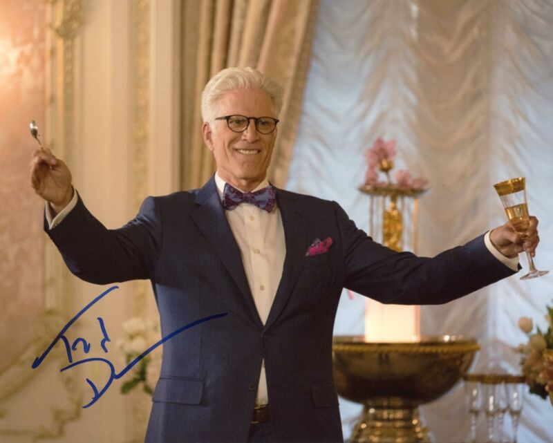"""Ted Danson """"The Good Place"""" AUTOGRAPH Signed 8x10 Photo ACOA"""