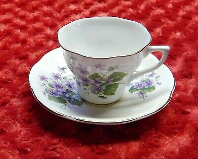 Vintage Bone China Made in England Teacup and Saucer Set