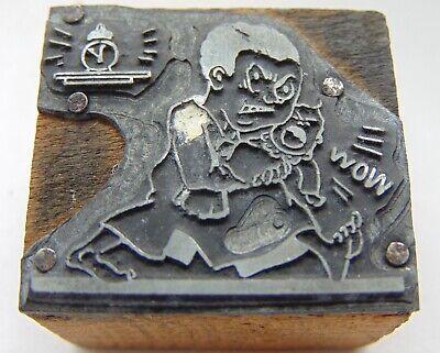 Printing Letterpress Printers Block 2 Angary Man Crying Baby