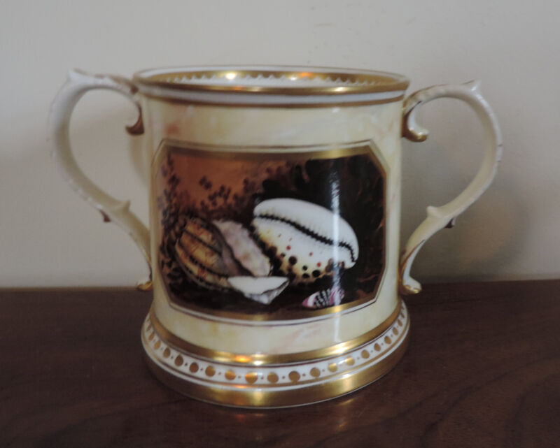 Porcelain Mug Worcester Flight Barr Style Sea Shells Minoprio Derby Faux Marble