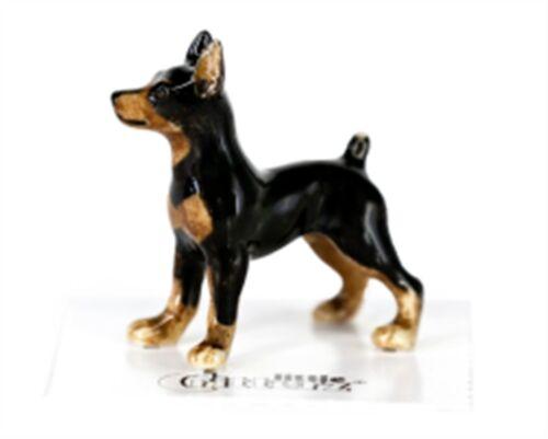 ➸ LITTLE CRITTERZ Dog Miniature Figurine Miniature Pinscher Zeus