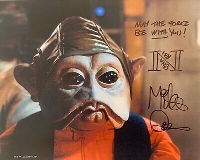 Mike Quinn HAND SIGNED 10x8 Star Wars Photograph NIEN NUMB Return Of Jedi *COA*
