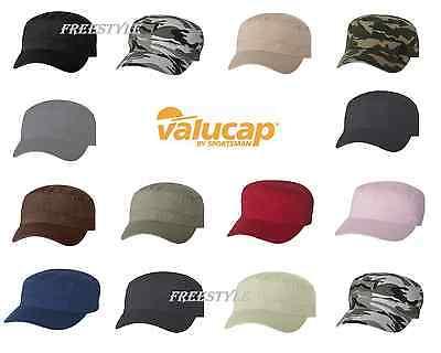 Chino Cotton Twill Visor (Valucap Fidel Cap Chino Twill Cadet Military Style Hat 100% cotton VC800 )