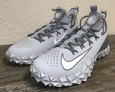 NIKE ALPHA HUARACHE 6 ELITE TURF SHOES LACROSSE WOLF GRAY 923426-012 SZ 13