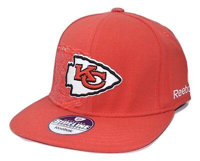 Kansas City Chiefs Reebok NFL Football Dual Threat Stretch Fit Cap Flat Bill Hat