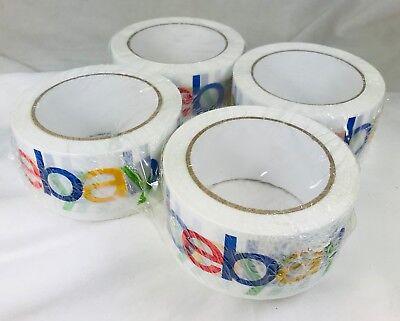 Ebay Branded Packing Tape 4 Rolls 2 X 75 Yards Each New Sealed Ebay Logo