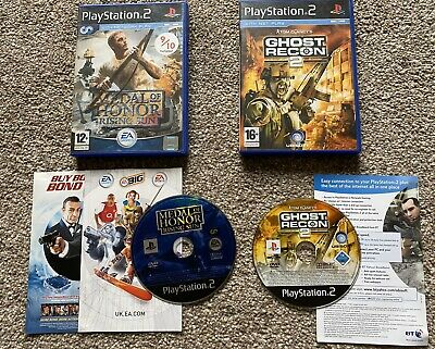 Two Ps2 War Games Tom Clancy, Medal Of Honour, used for sale  Shipping to Nigeria
