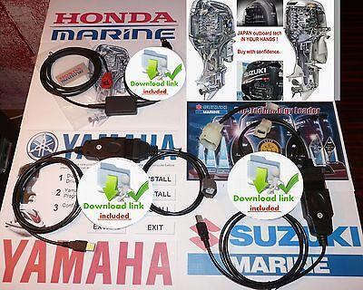YAMAHA SUZUKI HONDA MARINE  professional OUTBOARD DIAGNOSTIC KIT with manuals