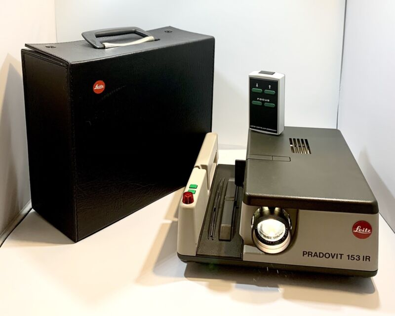 Leitz Pradovit 153 IR Projector W/ Leica Colorplan 2.5/90mm Lens,Remote&OEM Case