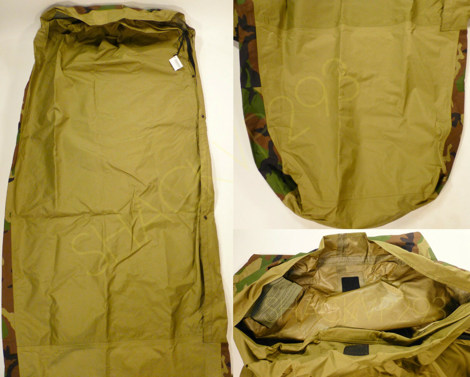 new military issue us sleeping bag bivy cover for mss woodland new military issue us sleeping bag bivy cover for mss woodland camouflage usgi 11 11 of 12