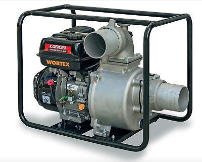 Power Pump 4T A Petrol Self-Priming Portable Aluminium WORTEX Lw 100 8 HP Loncin