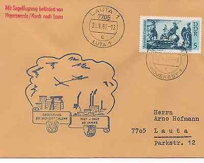 Post Glider (SEGELFLUGPOST GLIDER MAIL HOYERSWERDA - LAUTA 1967 SELTEN)