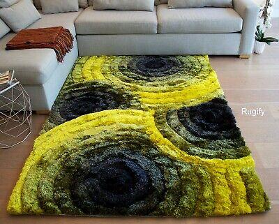Fluffy Fuzzy Shaggy Shag Yellow Black Gray Furry Decorative