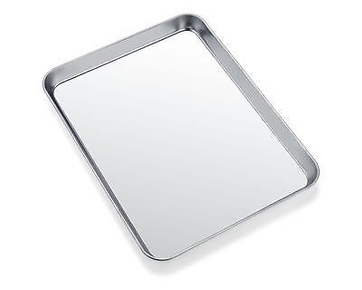 Toaster Oven Tray Pan, Zacfton Baking Crib-sheet Stainless Steel Cookie Sheet