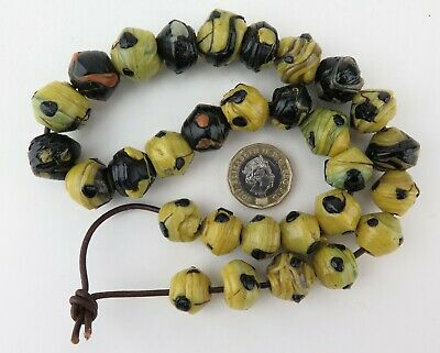 Ethnographic wound slag glass trade beads