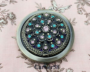 Vintage-Antique-Flower-Handbag-Compact-Mirror-LKYT