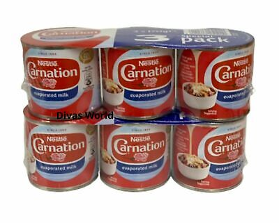 Nestle Carnation Evaporated Milk PK Of 6 x 170g Brand New Tinned EXP 2021