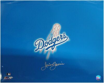 Jaime Jarrin Hand Signed Autographed 16x20 Los Angeles Dodgers Logo Photo -