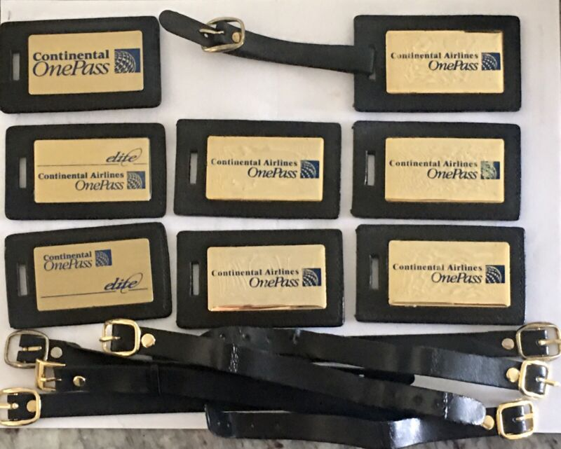 Continental Airlines Luggage Tags / OnePass Elite Kit / Document Holder