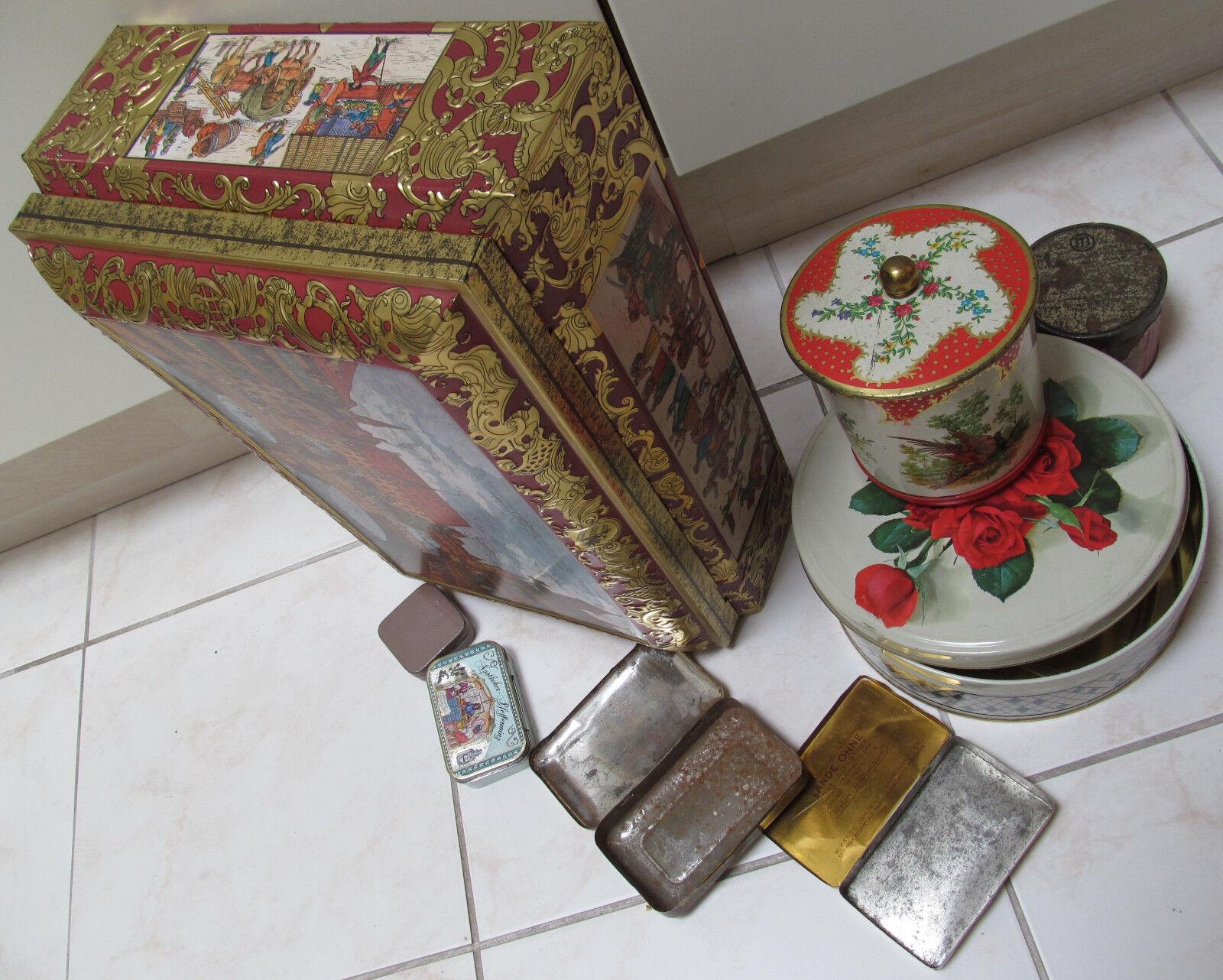 konvolut alte blechdosen tabakdose keksdose schmidt n rnberg blechdose eur 28 00 picclick de. Black Bedroom Furniture Sets. Home Design Ideas