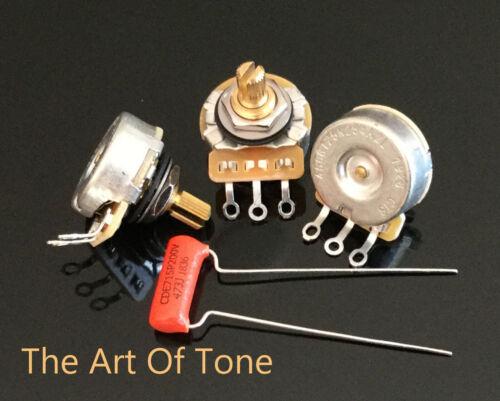 """CTS 250K Pots Short (1/4"""") Shaft - 10% Tol.- 450G - 3X Pots +.047 Orange Drop"""