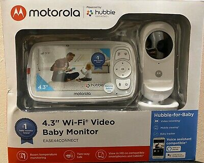 "Motorola Ease44Connect Wi-Fi Video Baby Monitor With 4.3"" HD Color Screen New"