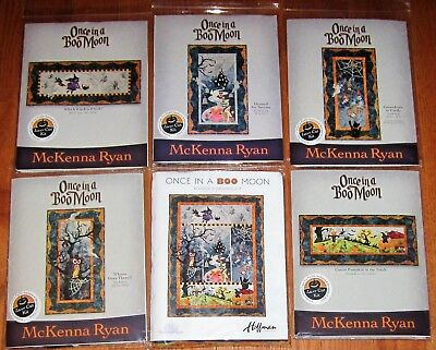 Halloween Quilt Kits (McKenna Ryan ONCE IN A BOO MOON Complete Laser Cut Fusible HALLOWEEN QUILT KIT)